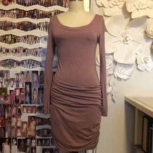 Toggery Long Sleeve Ruched Dress